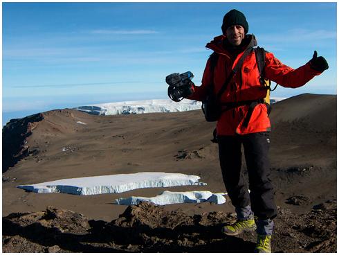 Fred Ripert cadreur sommet Kilimandjaro