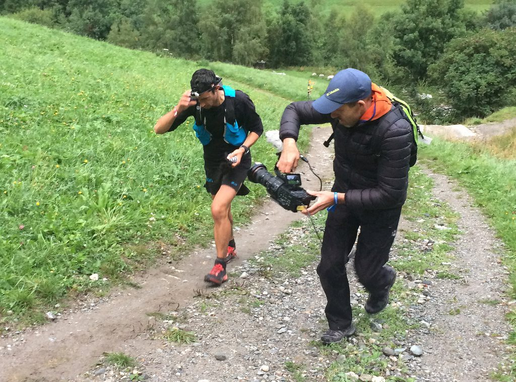 Fred Ripert filme en direct Kilian Jornet pour UTMB web TV